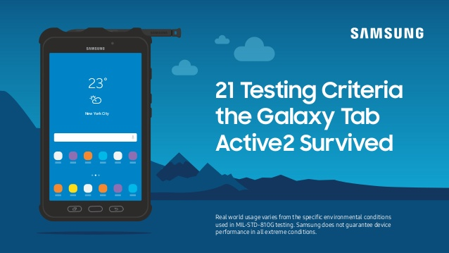 Here Are the 21 Tests Samsung's Rugged Galaxy Tab Active2 Survived