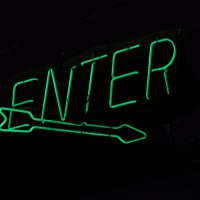 Green enter sign