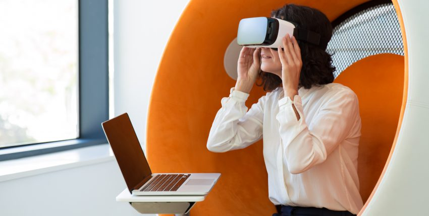 How is Virtual Reality (VR) used in business?