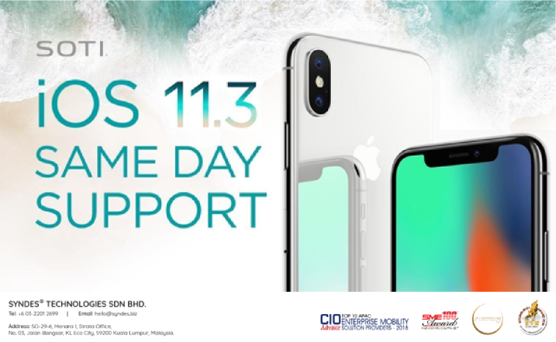 SOTI MobiControl: Ready for Same-Day iOS 11.3 Support