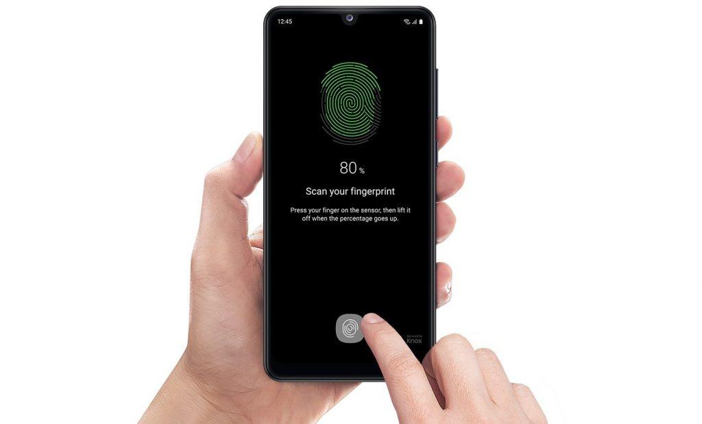 unique fingerprinter recognization from samsung galaxy A31